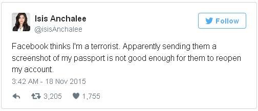 """Nona Anchalee dengan marah bercuit di twitter: """"TIDAK, aku takkan mau mengganti namaku, persetan dengan mereka!"""""""