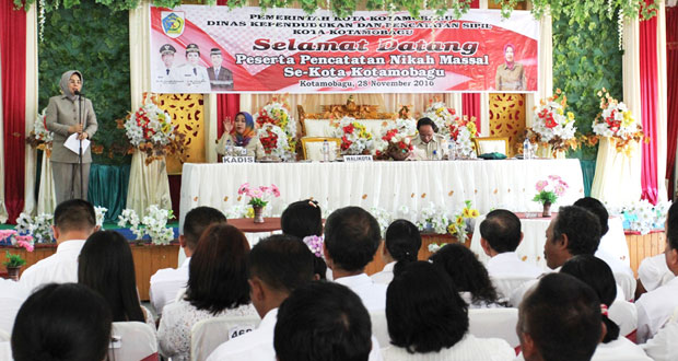 walikota-hadiri-kegiatan-pencatatan-akta-nikah-massal-se-kotamobagu