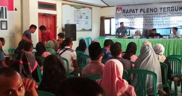 Pleno Hasil Penelitian Faktual Calon Perseorangan Serentak Di Enam Kecamatan