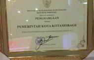 Kementerian Hukum dan HAM RI Menganugerahkan Pemkot Kotamobagu Sebagai Kota Peduli Hak Asasi Manusia