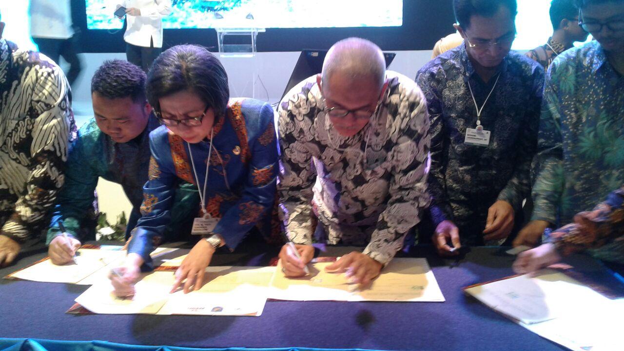 Bupati Bolmong Tanda Tangani MOU Naskah Kesepahaman Program Produk Unggulan Kawasan Perdesaan