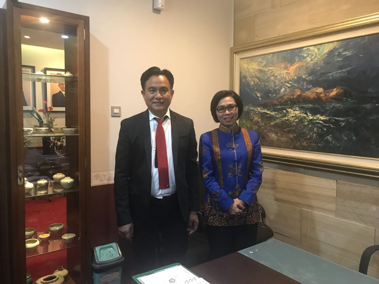 Yusril Siap Bantu Pemkab Bolmong Selesaikan Masalah Dengan Pemkab Bolsel