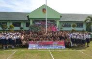 Sepakat Tolak Narkoba,Persit KCK Kodim 1303 Bolmong Gelar Ikrar Bersama Ratusan Pelajar