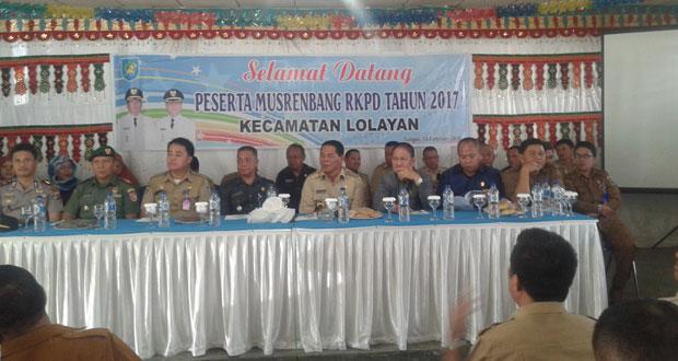 Bupati Bolmong Gelar Musrembang RKPD Kecamatan Lolayan Tahun 2017