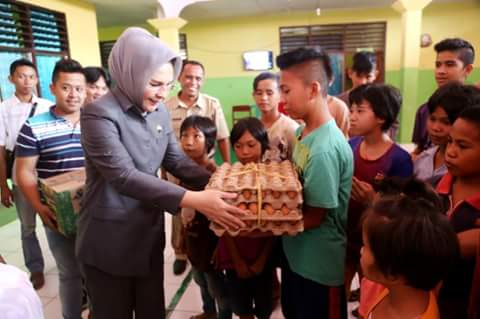 Rayakan HPN Walikota Bersama Wartawan Liputan Kotamobagu Sambangi Panti Asuhan