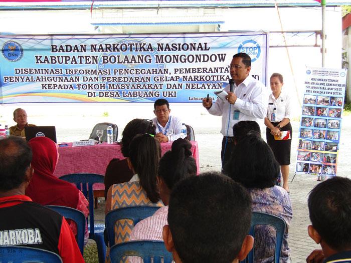 BNN Pemda Bolmong Gelar kegiatan Diseminasi Informasi Pencegahan, Pemberantasan Penyalagunaan dan Peredaran Gelap Narkoba (P4GN)