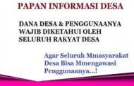 Dekab Bolmut Himbau Kepala Desa Wajib Pasang Papan Informasi Dandes