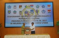 Wali Kota Kotamobagu Serahkan LKPD 2017 ke BPK RI Perwakilan Sulut
