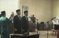 Saiful Ambarak dan Abdul Eba Nani di Kukuhkan Sebagai Ketua dan Wakil Ketua DPRD Bolmut
