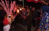 Meriahkan HUT RI Ke - 73 Pemkot Kotamobagu Gelar  Pawai Obor