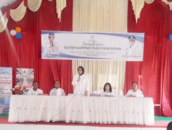 Pemkot Kotamobagu Gelar Sosialisasi Sistem Administrasi Kearsipan