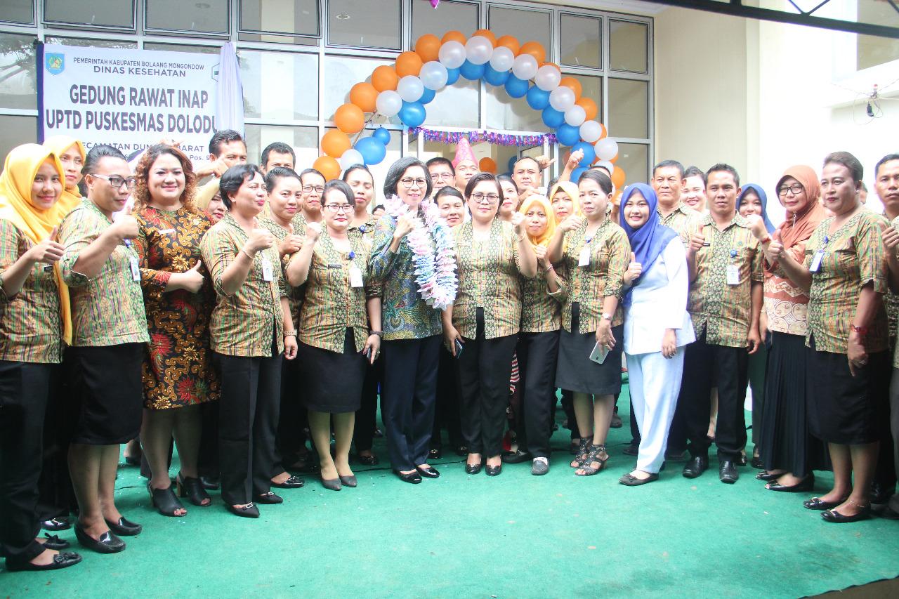 Bupati Bolmong Resmikan Dua Gedung Baru Puskesmas