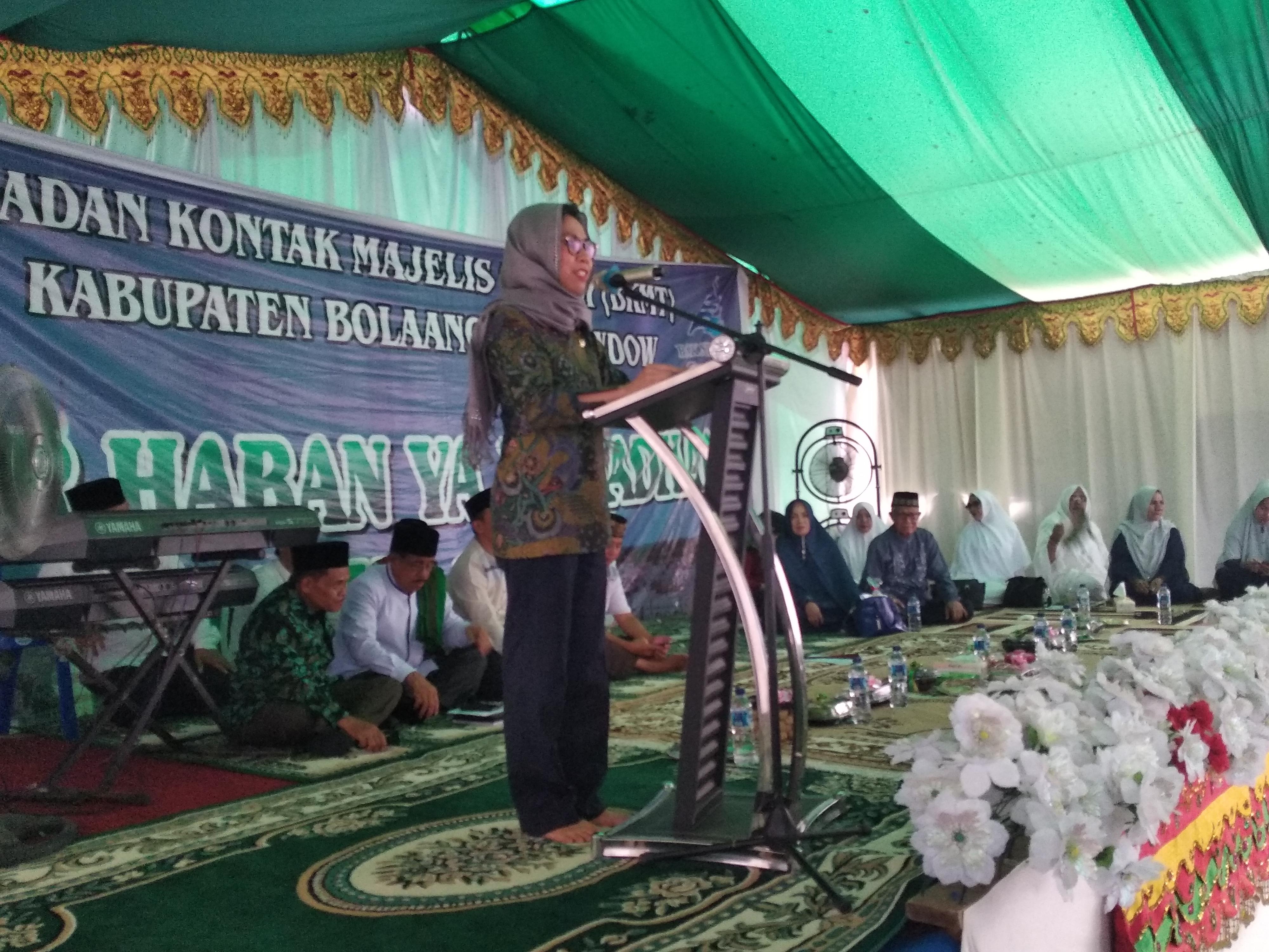 Bupati Bolmong Hadiri Dzikir Dan Doa Menyongsong Bulan Suci Ramadhan 1440 Hijriah
