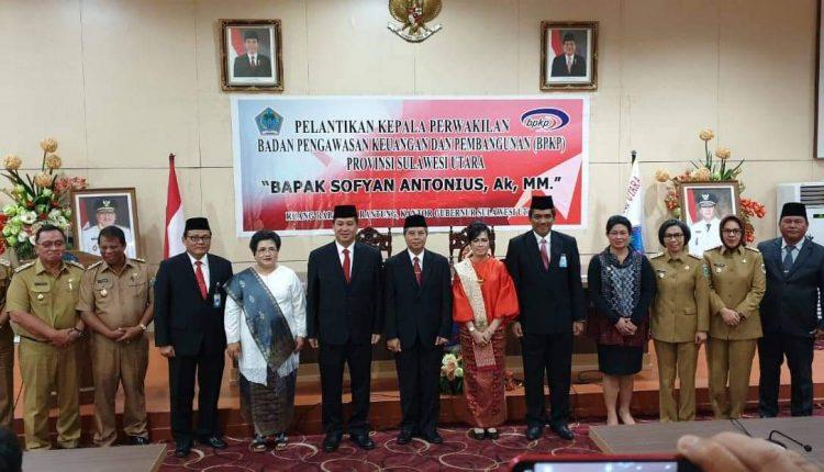 Tatong Hadiri Pelantikan Ketua BPKP Perwakilan Sulut