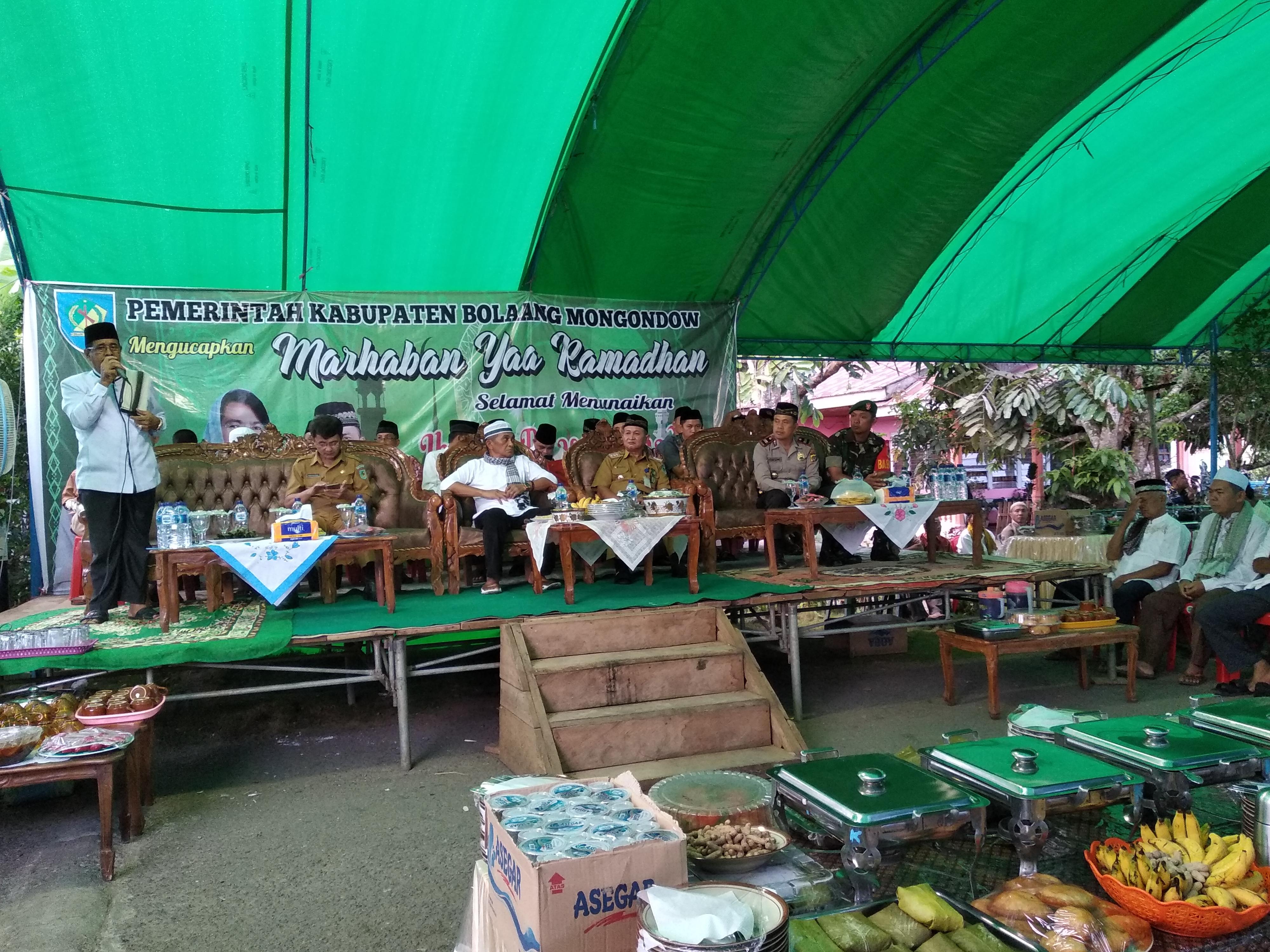 Wakili Bupati Bolmong, Yudha Rantung Buka  Rangkaian Safari Ramadan Perdana Tahun 2019