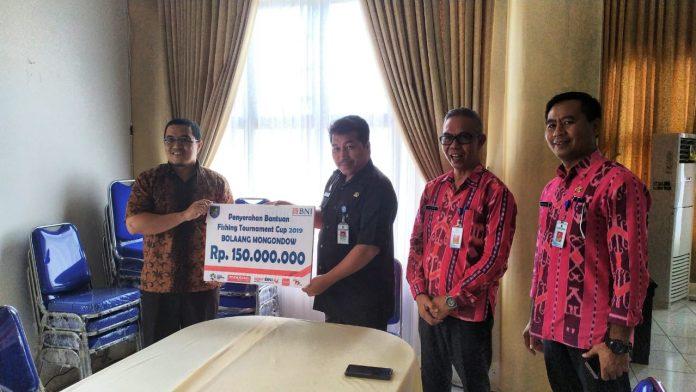 BNI Berikan Bantuan 150 Juta Untuk Kegiatan Fishing Tournament Cup 2019 Pemkab Bolmong