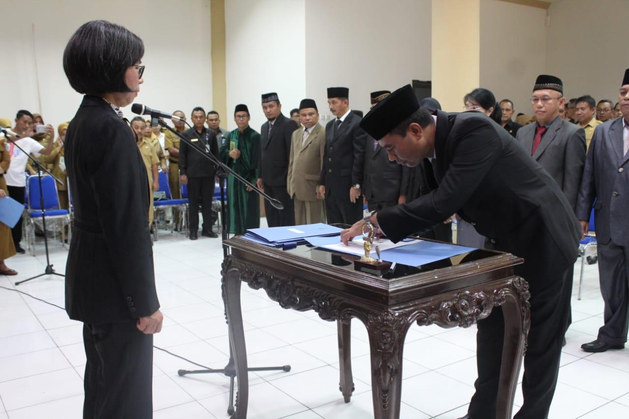 Pemkab Bolmong Gelar Pelantikan Pada Sejumlah Kepala OPD