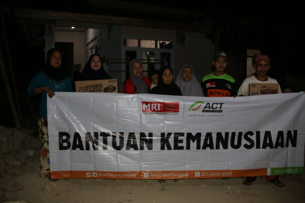 ACT Berikan Bantuan Pangan Keluarga Korban Gempa Banten