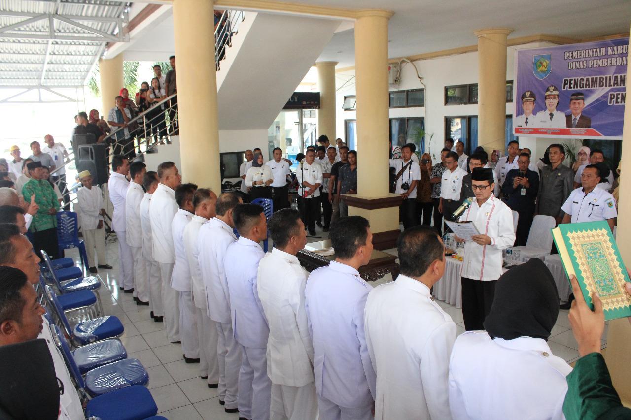Tuuk Lantik 25 Sangadi di Bolmong