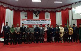 Walikota Hadiri Pengucapan Sumpah Dan Janji Pimpinan DPRD Kotamobagu Periode 2019 - 2024