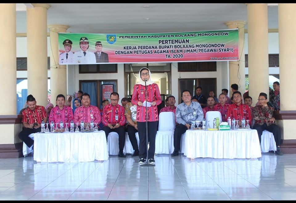 Pemkab Bolmong Gelar Rapat Kerja Perdana Bersama Imam dan Pegawai Syar'i