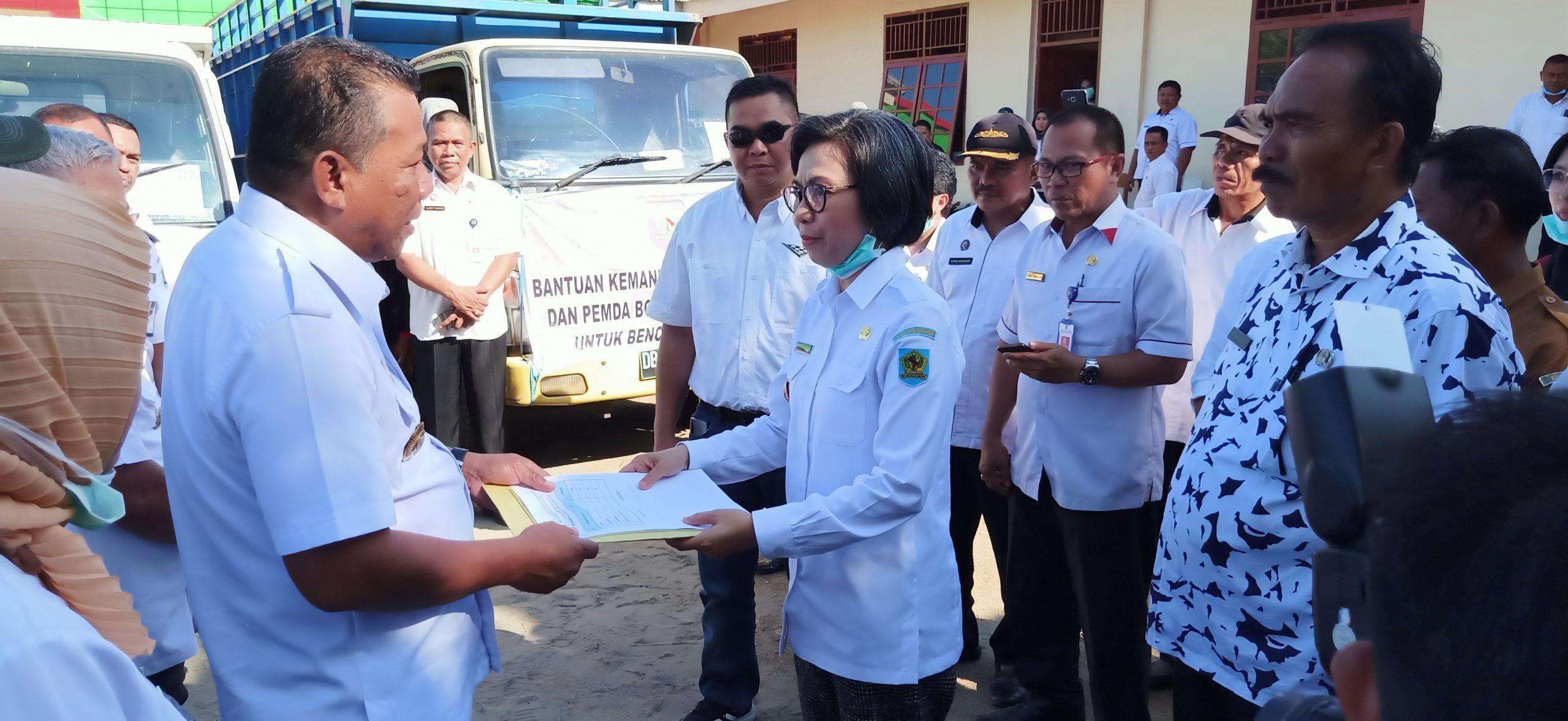 Terima Bantuan Bencana Alam, Depri Pontoh : Terima Kasih Pemkab Bolmong