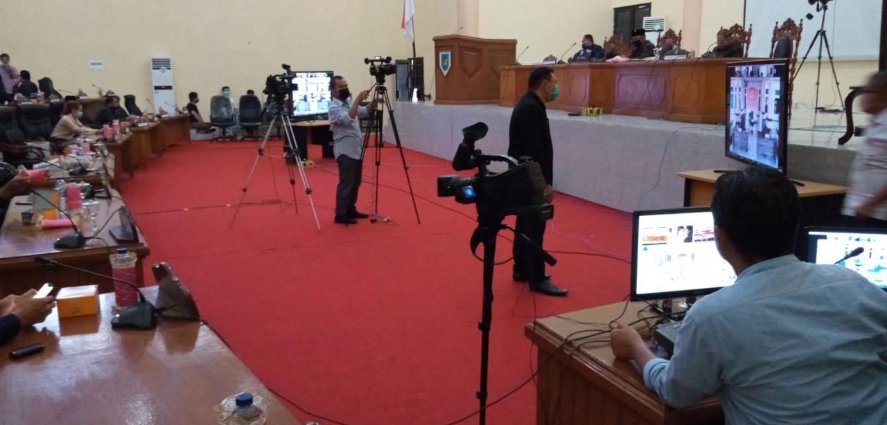 Terapkan Sistem Video Convrence DPRD Bersama Pemkab Bolmong Gelar Paripurna LKPJ Tahun 2019