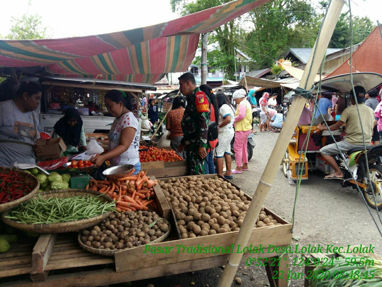 Pemkab Bolmong Hingga Kini Belum Terapkan Pembatasan Aktifitas Pasar