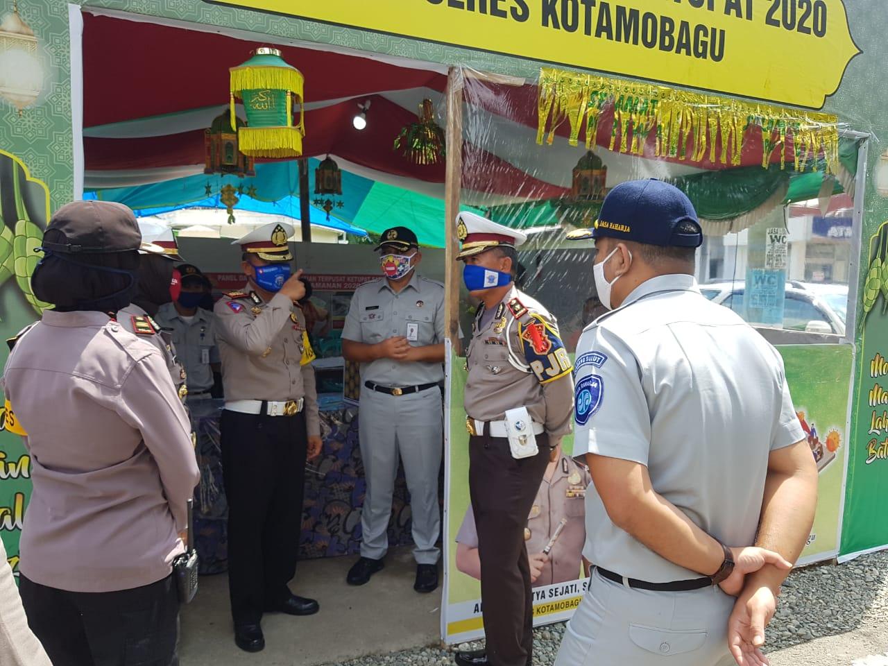 JR Kotamobagu Dampingi Pimpinan JR Sulut dan Dirlantas.