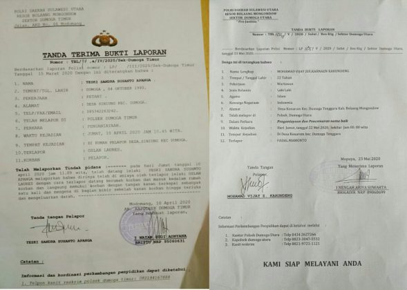 Diduga Lakukan Pemukulan Dua Sangadi Di Bolmong Dipolisikan