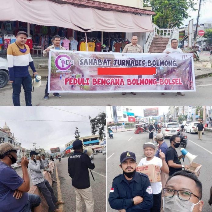 Peduli Korban Bencana Alam Bolsel - Bolmong,  SJB Turun Lakukan Pengalangan Dana