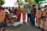 Dharma Wanita Dinas Pendidikan Bolmong  Salurkan Bantuan Korban Banjir