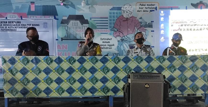 Sat Lantas Kotamobagu Kolaborasi Sosialisasi UU Lalu Lintas.