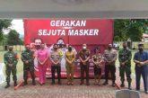 Gerakan Sejuta Masker, Pemkot, Polri dan TNI, Berkolaborasi.