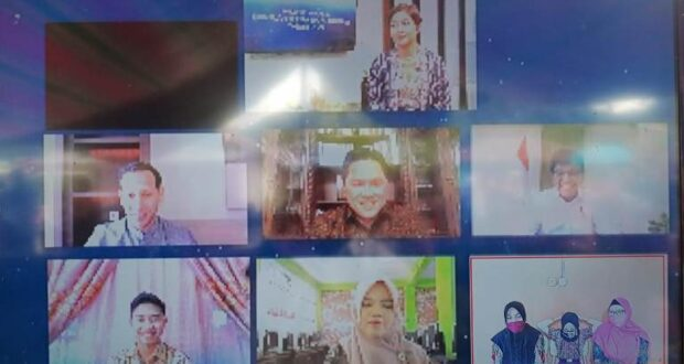 Siswa SDN 1 Tanoyan Vidcon Bareng Tiga Menteri
