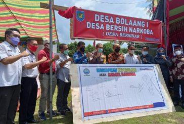 BNN Jadikan Desa Bolaang 1 Jadi Desa Bersih Narkoba