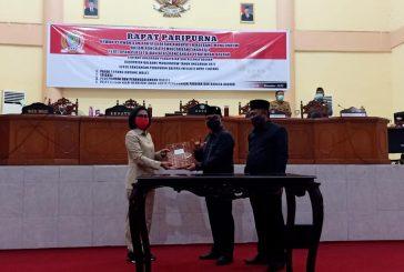DPRD Bolmong Tetapkan Empat Ranperda Tahun 2021