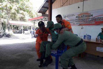 Anggota Linmas di Kotamobagu Latihan Penanganan Bencana