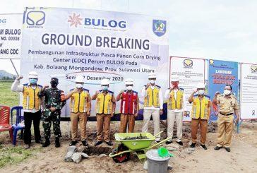 Sekda Bolmong Letakan Batu Pertama Pembangunan Corn Drying Center
