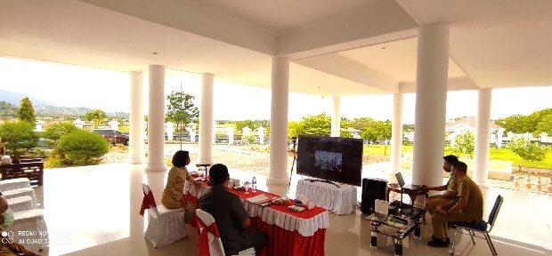 Tindaklanjuti Kerugian Negara Bupati Bolmong Ikuti Vidcon Bersama BPK