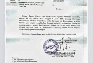 Pemkab Bolmong Hibau Masyarakat Terapkan Protokol Kesehatan Dalam Melaksanakan Ibadah