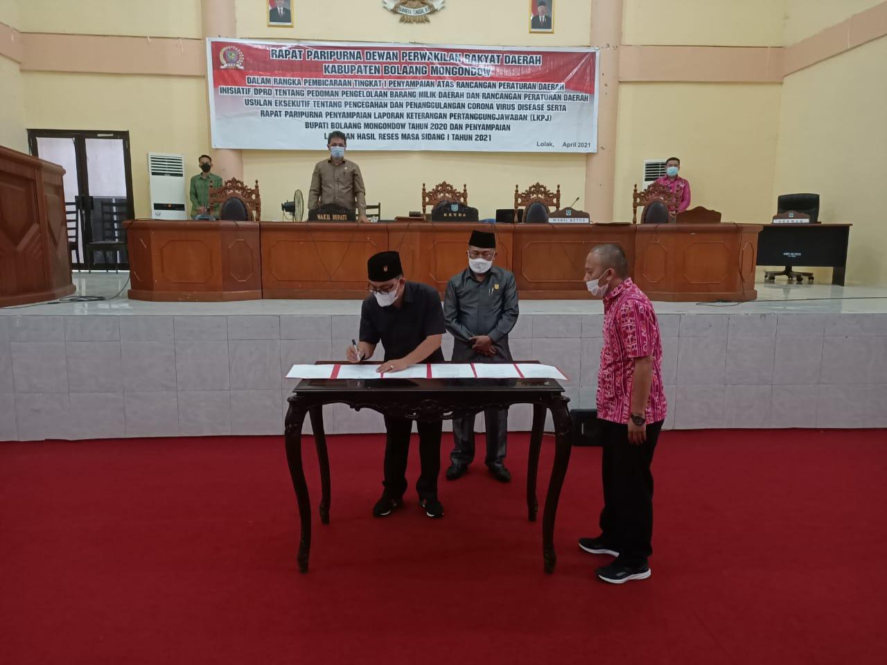 DPRD Bolmong Gelar Rapat Paripurna