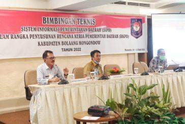 Tahlis Buka Bimtek SIPD Penyusunan Renja Tahun 2022