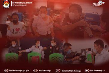 KPU dan Bawaslu Kota Kotamobagu Jalani Vaksinasi Covid -19