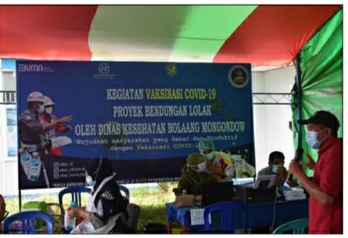 CSR PT. PP Persero TBK Proyek Bendungan Lolak Dalam Penanganan Covid 19