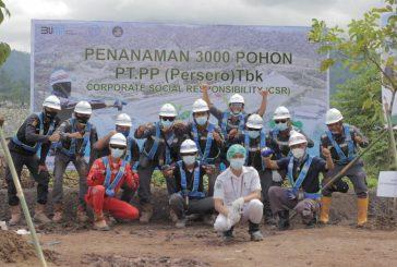 Dukung Program Penghijauan PUPR, PT. PP Persero TBK Tanam 3000 Pohon di Bolmong