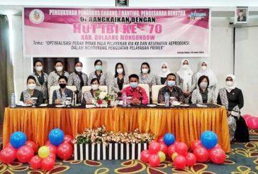 Sekda Hadiri Pengukuhan Pengurus IBI Bolmong