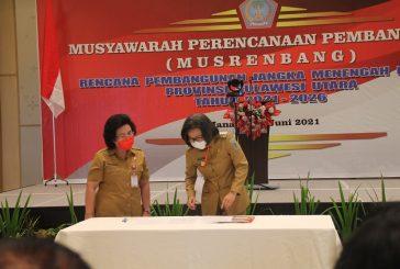 Bupati Bolmong Hadiri Musrenbang RPJMD Provinsi Sulut Tahun 2021-2026