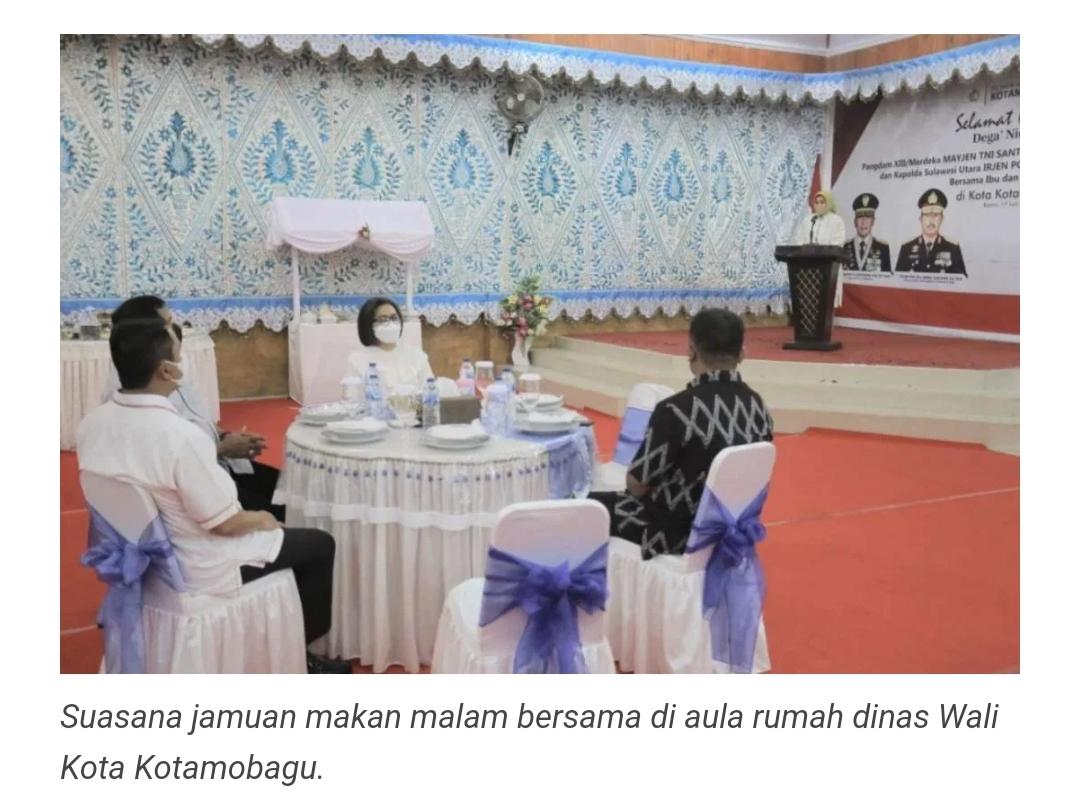 Wali Kota Jamu Makan Malam Pangdam XIII Merdeka, Kapolda Sulut dan Danrem 131 Santiago.