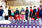 Dinsos Bolmong Salurkan Bantuan Beras PPKM